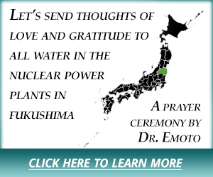 Let's send thoughts of love and gratitude to  all water in the  nuclear power  plants in fukushima. - A prayer ceremony by Dr. Emoto