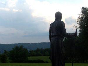 Statue of St. Ignatius at the Jesuit Center, Wernersville, Pennsylvania